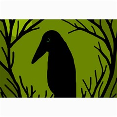 Halloween raven - green Collage Prints
