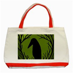Halloween raven - green Classic Tote Bag (Red)