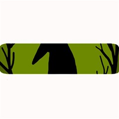 Halloween raven - green Large Bar Mats