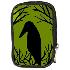 Halloween raven - green Compact Camera Cases