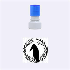 Halloween Raven   Green Rubber Round Stamps (small)