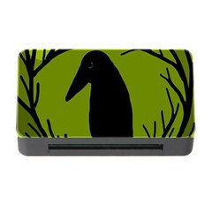 Halloween raven - green Memory Card Reader with CF
