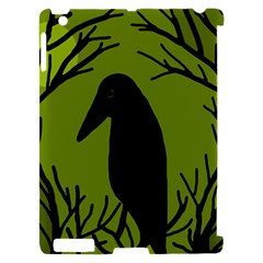 Halloween raven - green Apple iPad 2 Hardshell Case (Compatible with Smart Cover)