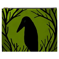 Halloween raven - green Cosmetic Bag (XXXL)