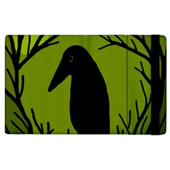 Halloween raven - green Apple iPad 3/4 Flip Case