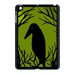 Halloween raven - green Apple iPad Mini Case (Black)