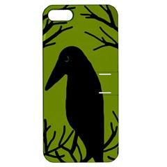 Halloween raven - green Apple iPhone 5 Hardshell Case with Stand