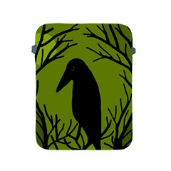Halloween raven - green Apple iPad 2/3/4 Protective Soft Cases