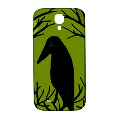 Halloween raven - green Samsung Galaxy S4 I9500/I9505  Hardshell Back Case