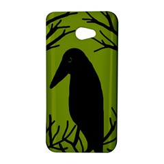 Halloween raven - green HTC Butterfly S/HTC 9060 Hardshell Case