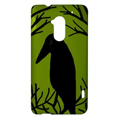 Halloween raven - green HTC One Max (T6) Hardshell Case