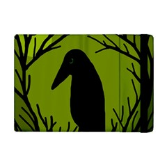 Halloween raven - green iPad Mini 2 Flip Cases