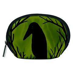 Halloween raven - green Accessory Pouches (Medium)