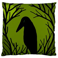 Halloween raven - green Standard Flano Cushion Case (Two Sides)