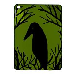 Halloween raven - green iPad Air 2 Hardshell Cases