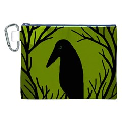 Halloween raven - green Canvas Cosmetic Bag (XXL)