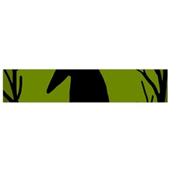 Halloween raven - green Flano Scarf (Small)