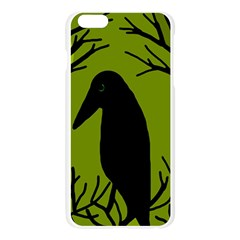 Halloween raven - green Apple Seamless iPhone 6 Plus/6S Plus Case (Transparent)