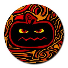 Halloween decorative pumpkin Round Mousepads