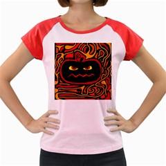 Halloween decorative pumpkin Women s Cap Sleeve T-Shirt