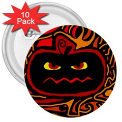 Halloween decorative pumpkin 3  Buttons (10 pack)
