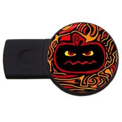 Halloween decorative pumpkin USB Flash Drive Round (2 GB)
