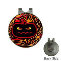 Halloween decorative pumpkin Hat Clips with Golf Markers