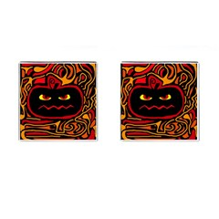 Halloween decorative pumpkin Cufflinks (Square)