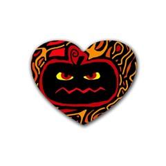Halloween decorative pumpkin Heart Coaster (4 pack)