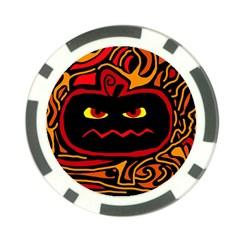 Halloween decorative pumpkin Poker Chip Card Guards