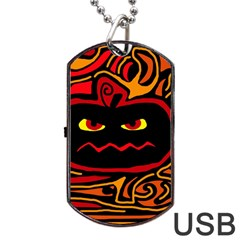 Halloween decorative pumpkin Dog Tag USB Flash (Two Sides)