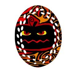 Halloween decorative pumpkin Ornament (Oval Filigree)