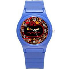 Halloween decorative pumpkin Round Plastic Sport Watch (S)