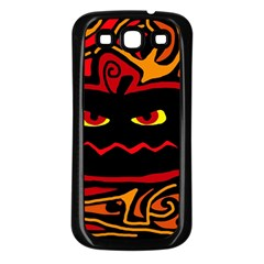 Halloween decorative pumpkin Samsung Galaxy S3 Back Case (Black)