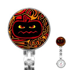 Halloween decorative pumpkin Stainless Steel Nurses Watch