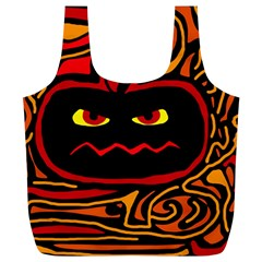Halloween decorative pumpkin Full Print Recycle Bags (L)