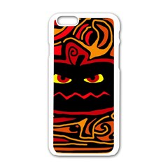 Halloween decorative pumpkin Apple iPhone 6/6S White Enamel Case