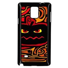 Halloween decorative pumpkin Samsung Galaxy Note 4 Case (Black)