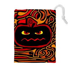 Halloween decorative pumpkin Drawstring Pouches (Extra Large)