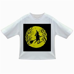 Halloween witch - yellow moon Infant/Toddler T-Shirts