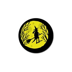 Halloween witch - yellow moon Golf Ball Marker (10 pack)