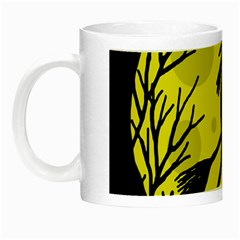 Halloween witch - yellow moon Night Luminous Mugs