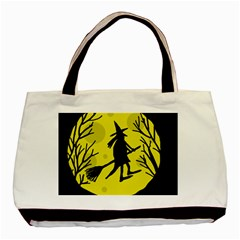 Halloween witch - yellow moon Basic Tote Bag