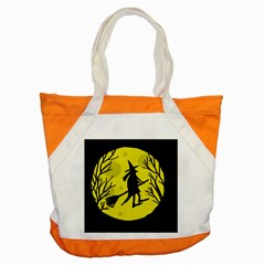 Halloween witch - yellow moon Accent Tote Bag