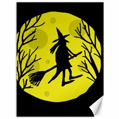 Halloween witch - yellow moon Canvas 36  x 48