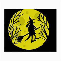 Halloween witch - yellow moon Small Glasses Cloth (2-Side)