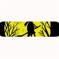Halloween witch - yellow moon Large Bar Mats