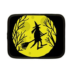 Halloween witch - yellow moon Netbook Case (Small)