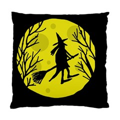 Halloween witch - yellow moon Standard Cushion Case (One Side)