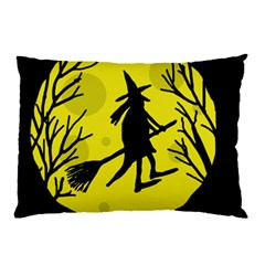 Halloween witch - yellow moon Pillow Case